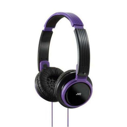 JVC HAS200/Violet Riptide Portable On-Ear Headband Headphones - Violet