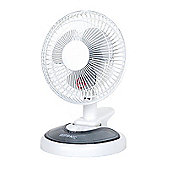 Duronic FN15 Mini 2 in 1 Clip On/Desk Fan - White