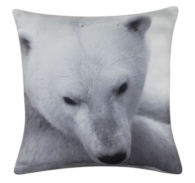Black and White Polar Bear Cushion Perfect For Animal Lover