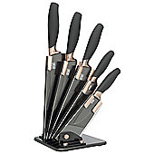 Taylor's Eye Witness Fan Brooklyn Copper 5 Piece Knife Block Set LMS23CBKB8
