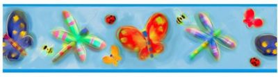 Childrens Self Adhesive Border - Butterflies and Bugs