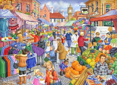 Market Day - Extra Large Puzzle