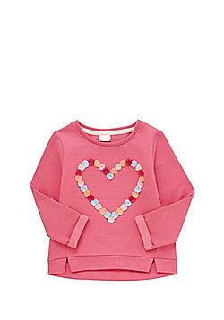 F&F Pom Pom Heart Sweatshirt