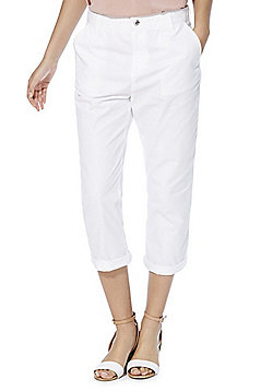 F&F Cropped Trousers - White