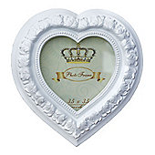 Heart Frame Mirror White 3 x 3