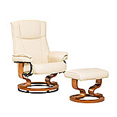 Sofa Collection Combault Swivel Chair And Footstool - Cream