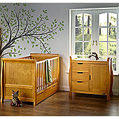 Obaby Stamford 2 Piece Cot Bed Nursery Room Set - Country Pine