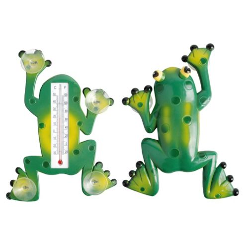 Fallen Fruits Frog Window Thermometer