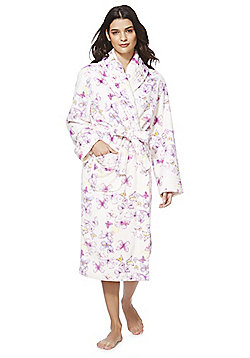 F&F Butterfly Print Stitch Detail Dressing Gown - Multi