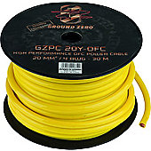 Ground Zero 4AWG Yellow OFC Power Cable Spool 30M