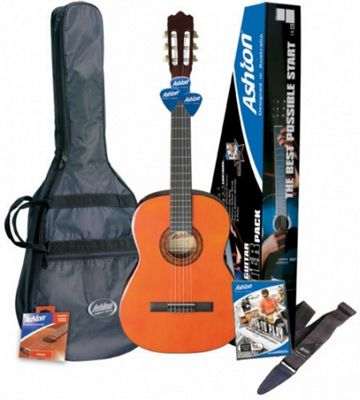 Ashton SPCG34AM ¾ Size Classical Guitar Starter Pack (Amber)