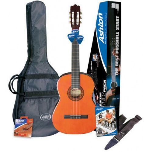 Ashton SPCG34AM ¾ Size Classical Guitar Starter Pack (Amber)