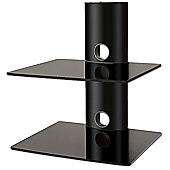 Black 2 shelf equipment support unit