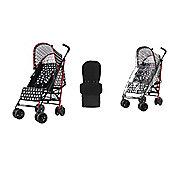 Obaby Atlas Stroller/Mosquito Net/Footmuff - Crossfire