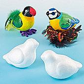 Polystyrene Birds for Crafts (Pack Of 10)