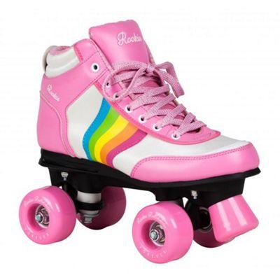 Rookie Forever Rainbow Quad Roller Skates - Pink/Multi UK 7