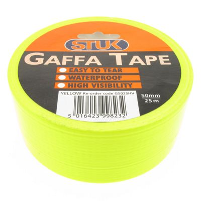 Gaffa Tape High Visibility Yellow 50mm x 25m