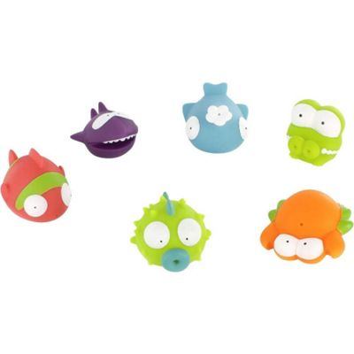 Badabulle 6 Pack Bath Toys (Ocean Animals)