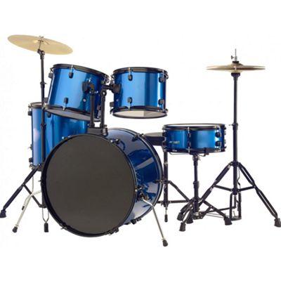 Rocket 5 Piece 22in Drum Kit in Blue