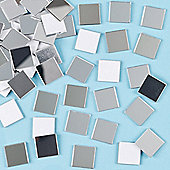 Mosaic Self-Adhesive Mirror Tiles (Pack of 100)