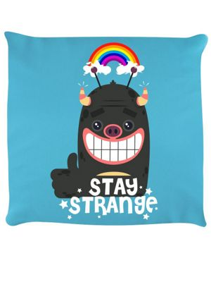 Stay Strange Cushion 40x40cm, Sky Blue