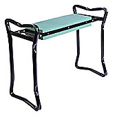 Outsunny 2 in 1 Garden Kneeler Seat Patio Kneeling Pad Support Bench Foldable Gardening