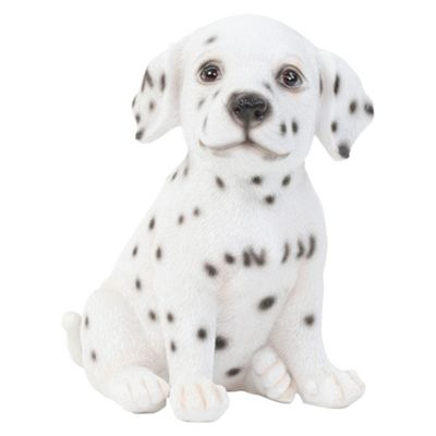 Realistic 16cm Sitting Dalmatian Puppy Dog Statue Ornament