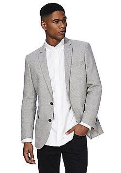 F&F Regular Fit Suit Jacket - Light grey