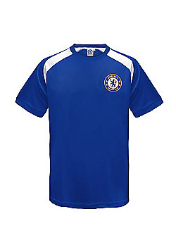 Chelsea FC Boys Poly T-Shirt - Royal blue