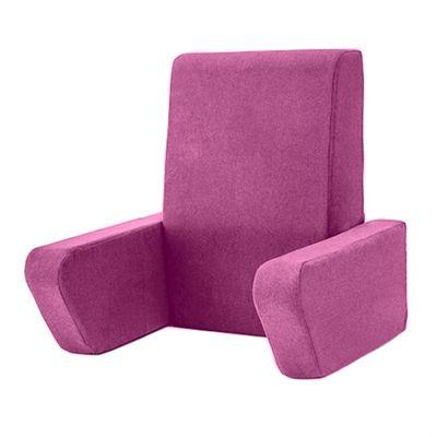 Soft Wool Effect 'Una' Foam Reading Back Rest Cushion - Thistle