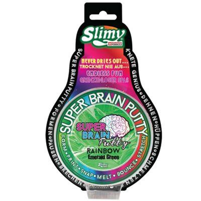 Slimy Super Brain Putty Rainbow Series 75g Tin - Green