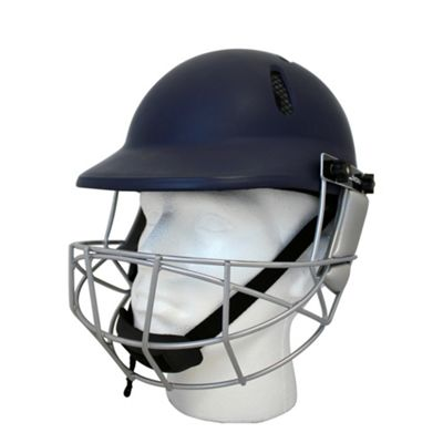 Woodworm Cricket Select Mens Adult Cricket Helmet - Navy