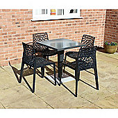 Brackenstyle Madrid Pedestal Table and 4 Anthracite Neptune Chairs - Seats 4