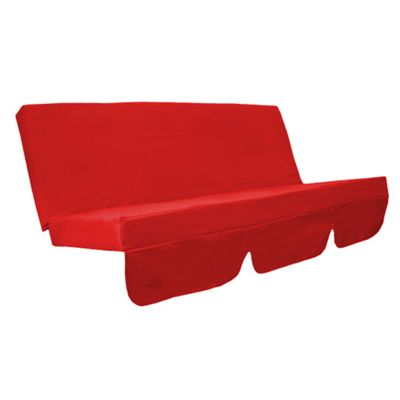 Red Water Resistant Bench Cushion for Outdoor Swing Hammock Garden Seat Pad