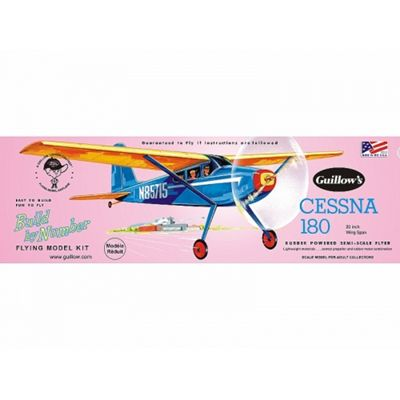 Cessna 180 - Flying Model Kit - 20 Wing Span - Guillow's