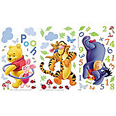 Winnie The Pooh Numbers Wall Stickers