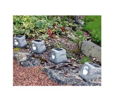 4 Pack Garden Solar LED Rock Lights
