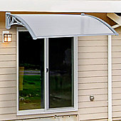 Outsunny Door Awning Canopy Window Rain Shelter Cover Porch - 140cm x 70cm