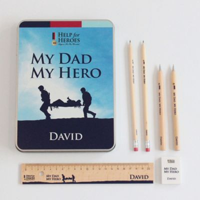 Help for Heroes My Dad My Hero Personalised Stationery Tin Set