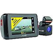 "Mio MiVue 698 Dual 2.7"" DVR Super HD Front-Rear Dash Camera GPS Accident Recorder"