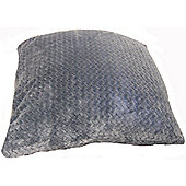 Country Club Chevron Fleece Jumbo Scatter Cushion, 55 x 55cm, Grey