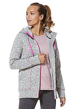 F&F Active Marl Zip-Through Hoodie - Grey