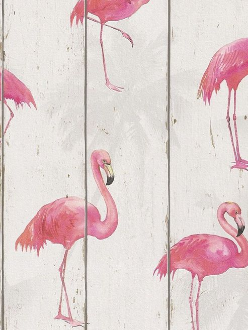Rasch Barbara Becker Flamingo Wallpaper Natural White 479720