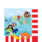 Little Pirate Beverage Napkins - 2ply Paper
