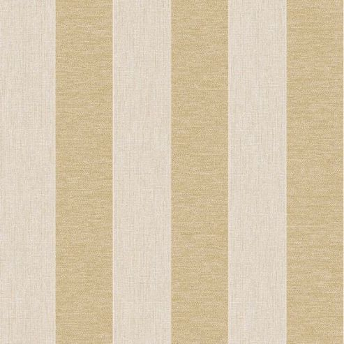 Superfresco Ariadne Stripe Beige / Gold Metallic Textured Wallpaper