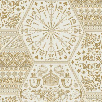 Designer World Heritage Gold Metallic Wallpaper