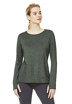 F&F Active Long Sleeve Soft Touch Top - Khaki