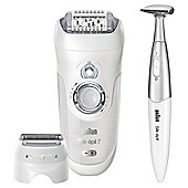 Braun 7 SE7-561 Silk-épil Waterproof Leg, Body & Face Epilator and Bikini Trimmer - White
