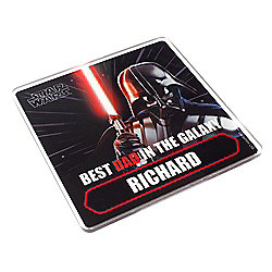 Star Wars Personalised Father's Day Darth Vader Coaster