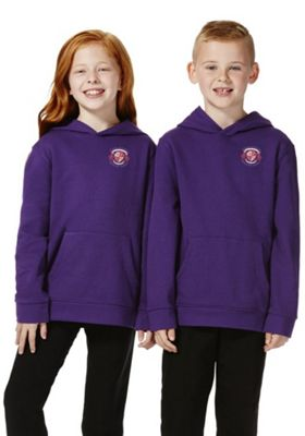 Unisex Embroidered School Hoodie with As New Technology 15-16 years Purple